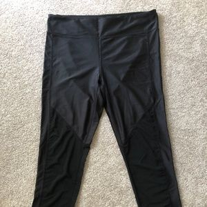 Fabletics Legging with Mesh & Shiny Panel Detail